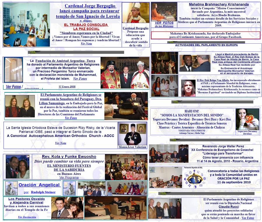 Universal Parliament of Religions - Parlamento Argentino de ...